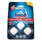Finish Dishwasher Cleaner Pouches, Original Scent, Pouch, 24 Tabs/Pouch, 8/Carton