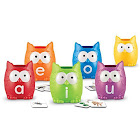 Learning Resources Vowel Owls Sorting Set, Word Recognition, Assorted Colors, SE