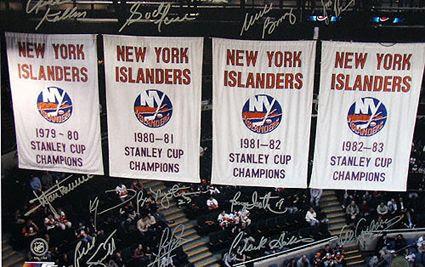 New York Islanders banners