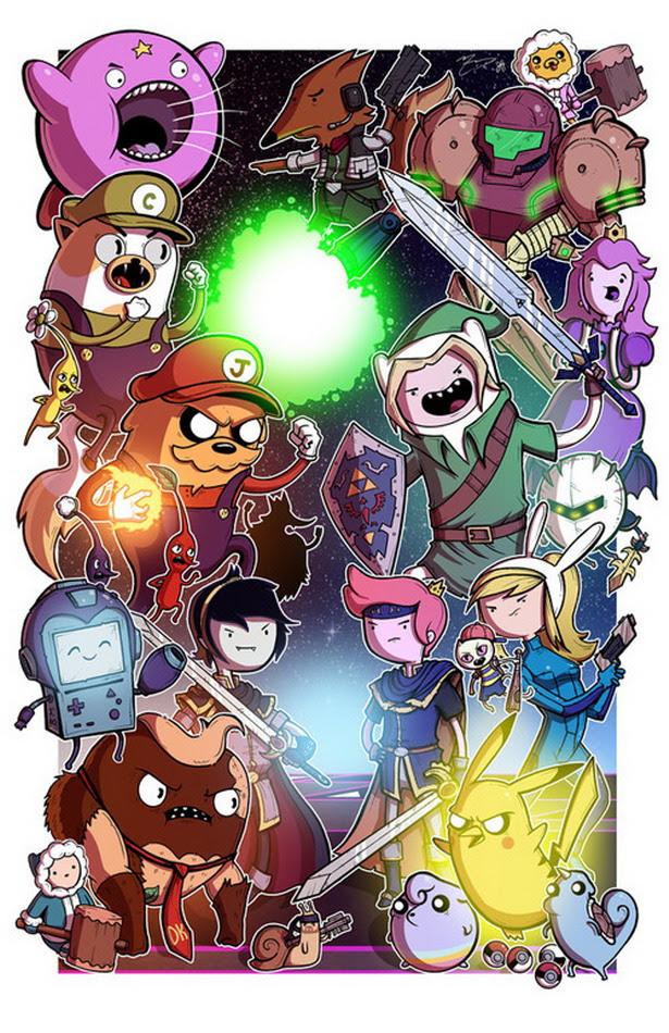 Personajes de Nintendo versión Hora de Aventuras