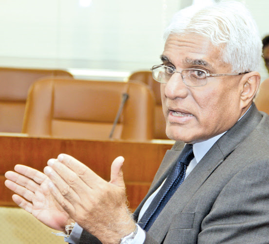 CBSL Governor Dr. Indrajit Coomaraswamy Picture by Saliya Rupasinghe