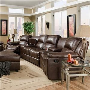 oasis chestnut  seat reclining sectional