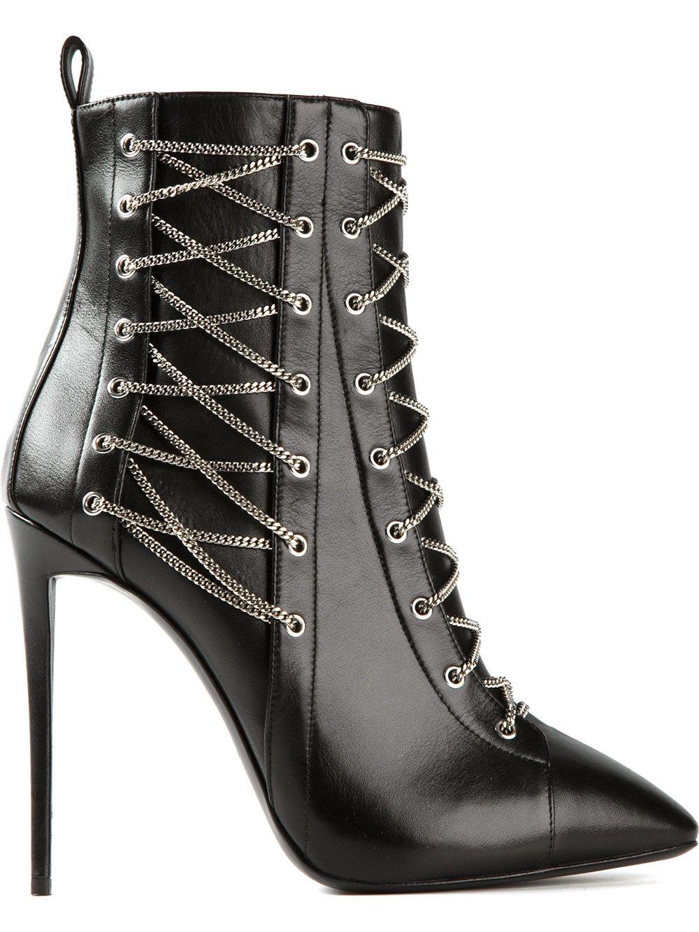 Giuseppe Zanotti Design chain embellished boots