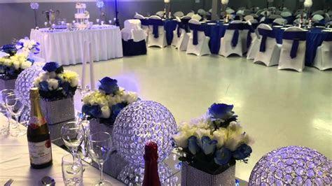 E.Halisi Decor royal blue wedding decoration.   YouTube