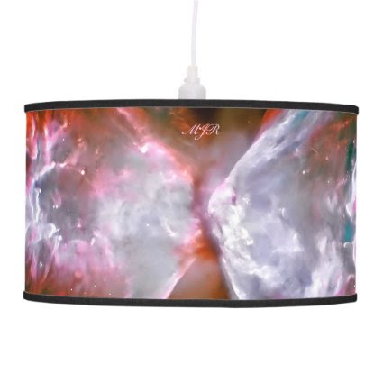 Monogram, Butterfly Nebula in Scorpius space image Hanging Lamps