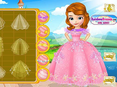 Play Design Princess Sofia's Wedding Dress game online