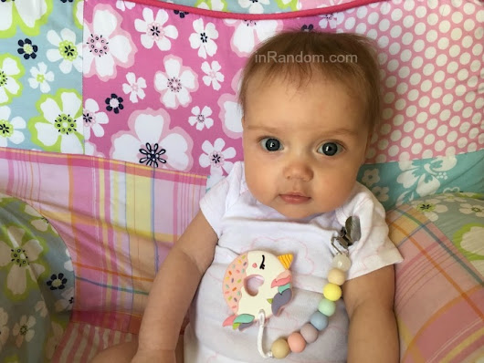 Loulou Lollipop Pink Unicorn Donut Teether