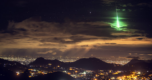 A Brilliant Green Meteor Lights Up India's 'Sky Islands'