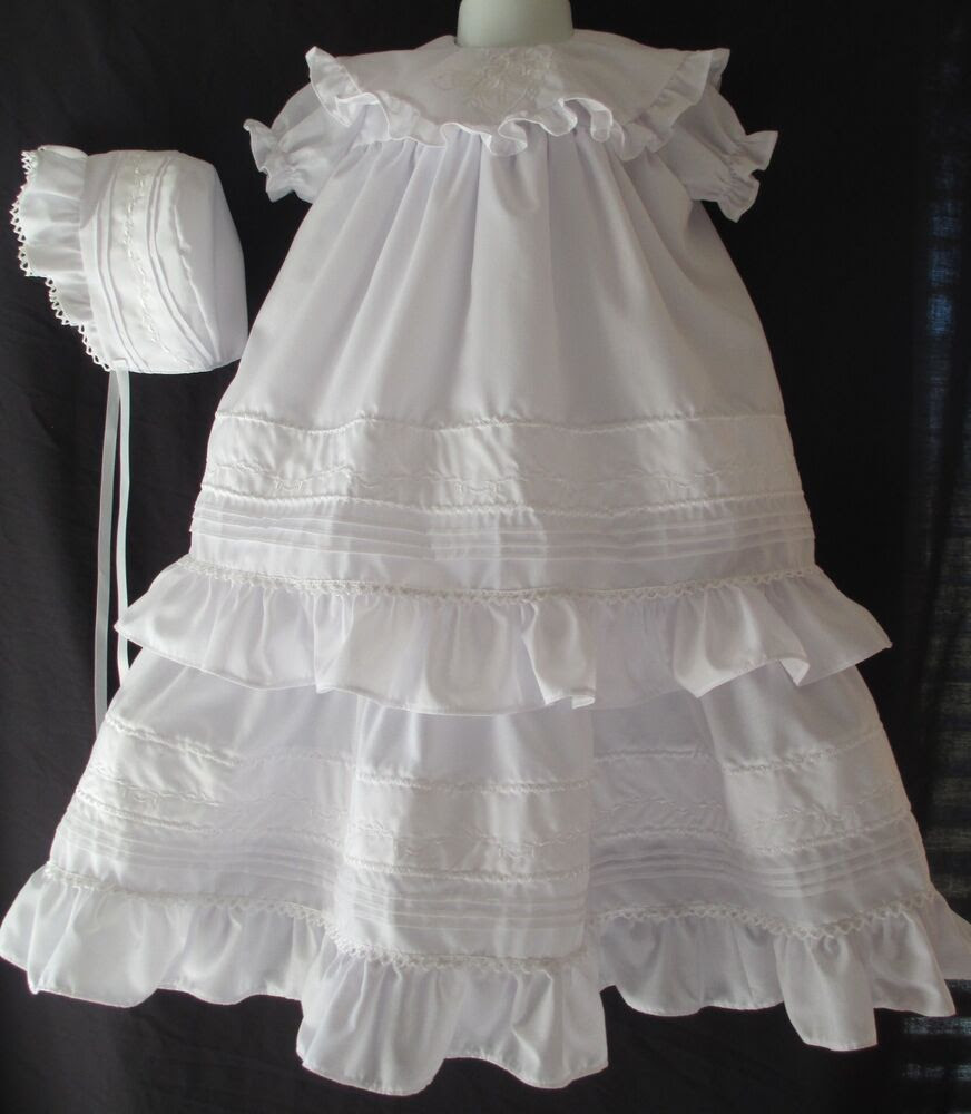 baby girls vintage inspired christening gown baptism dress