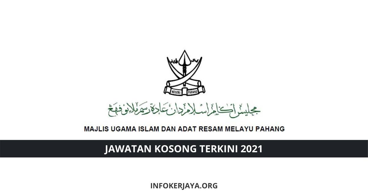 Jawatan Kosong Majlis Ugama Islam dan Adat Resam Melayu ...