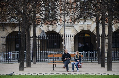 Planning our next move, Place des Vosges, Paris