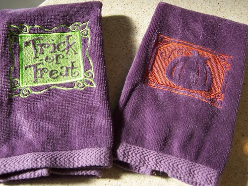 Halloween/Autumn Fingertip Towels