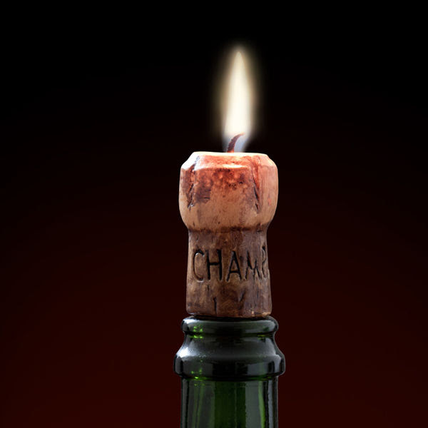 Champagne Cork Candles : cork candle