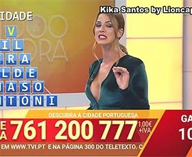 Kika Cardoso sensual a apresentar o concurso 1000 à hora