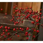Red Artificial Berry Garland, 120'' long, Red/Burgundy DIY Garland, Craft Supplies