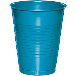 Touch of Color Plastic Cups, Turquoise - 20 count, 16 oz each