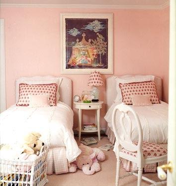 Pink Girl Room - Traditional - girl's room - Benjamin Moore Rose ...