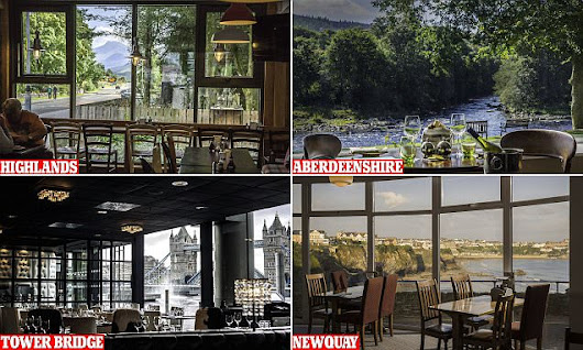 The most stunning restaurant views in Great Britain revealed
