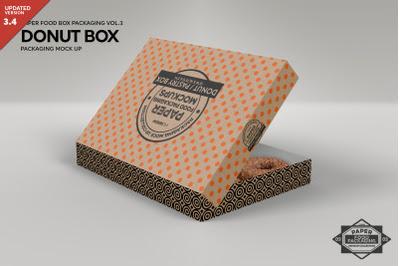 Download Dozen Donut Box Packaging Mock Up PSD Mockup Template