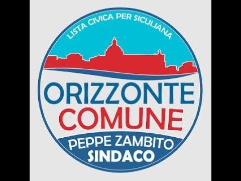 Video   Comizio di chiusura campagna elettorale del candidato sindaco Peppe Zambito