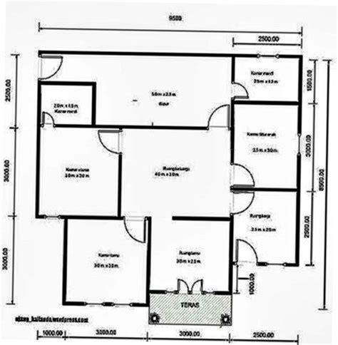 denah rumah 4 kamar tidur 2018 - desain rumah