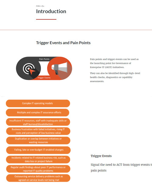 COBIT 5 Pain Points and Trigger Events - An Interactive Guide