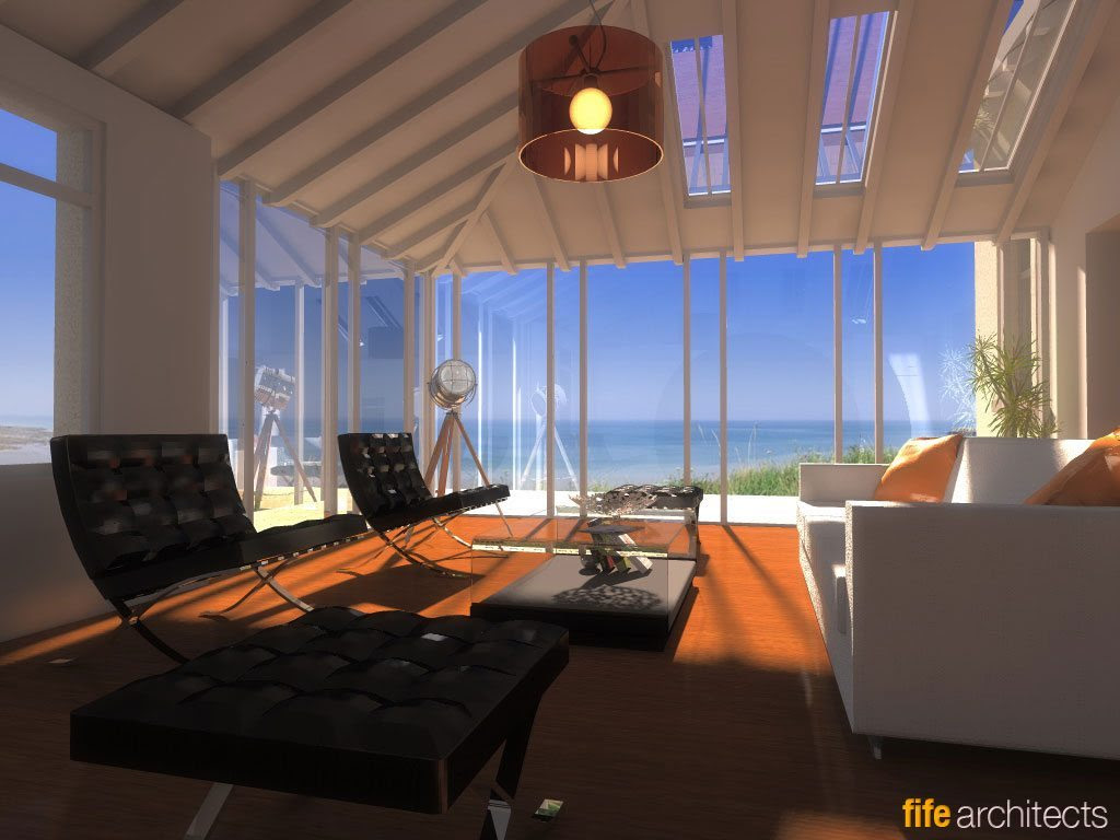 Interior Design Concept, Earlsferry - Fife Architects//Fife Architects