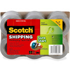 Scotch Easy-Grip Packaging Tape Dispenser Refill, Clear - 6 pack