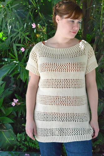 Lace Stripes Sweater