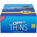 Oreo Thins Chocolate Sandwich Cookies - 12.24oz/12ct