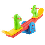 Hey Play 80-SH035-6 Teeter Totter Backyard or Playroom Equipment with Easy Seesaw