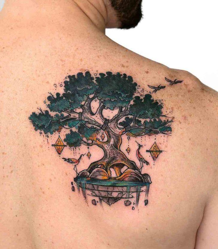 Spiritual Tree Tattoo On Shoulder Blade Best Tattoo Ideas Gallery