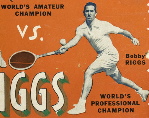 Tennis Posters, World Championship 1940s, Jack Kramer, Pancho Gonzales, Bobby Riggs – George Glazer Gallery, Antiques