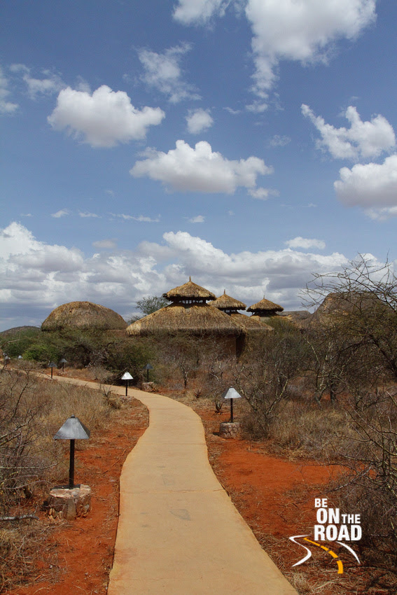 The pathway inside Samburu Sopa Lodge