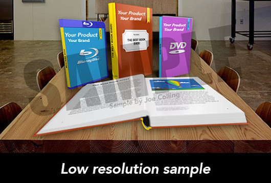 I will create a digital mockup display of your book or product