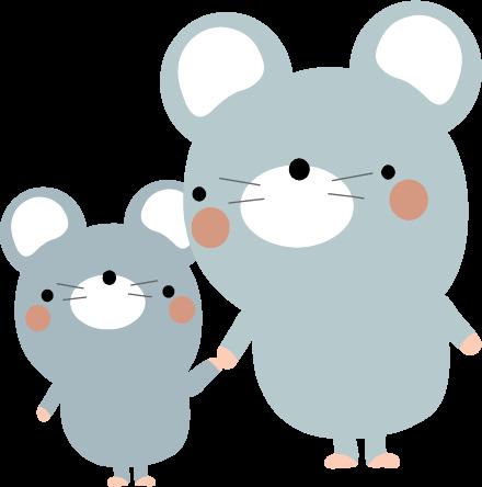 ねずみのイラスト無料イラストフリー素材可愛いネズミ2
