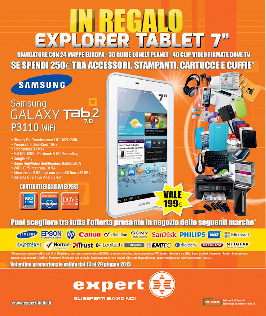 IN REGALO EXPLORER TABLET - Expert Calabria!!
