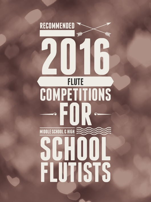 Save the Date: Flute Competitions and Recitals - Ellen Johnson Mosley, D.M.