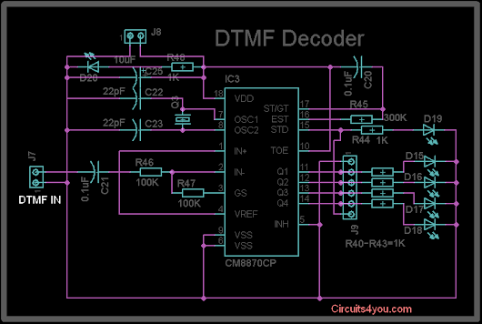 Dtmf Decoder Mt8870 Httpcircuits4you20160612dtmf Decoder