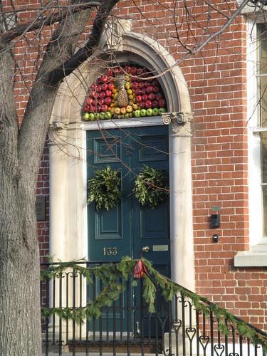 Old Town Doorway at Christmas
