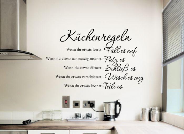 Wandtattoo Küche Spruch