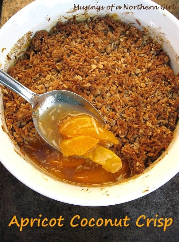 Apricot Coconut Crisp