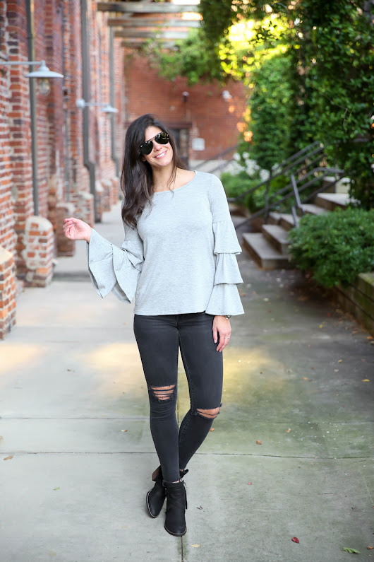 10 Bell Sleeve Sweatshirts Under $80 for Fall