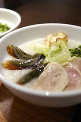 塩鶏と皮蛋の粥, 粥麺茶房, 新宿三越