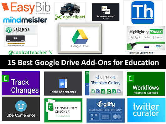 15 Best Google Drive Add-Ons for Education @coolcatteacher
