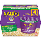 Annie's Homegrown Macaroni & Cheese, White Cheddar - 4 pack, 8.04 oz box