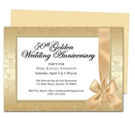 9 best 25th & 50th Wedding Anniversary Invitations