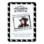 Halloween Custom Photo Birthday Party Card