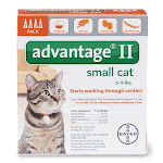 Bayer 04461669 Advantage Ii Flea Control Treatment For Small Cats 5-9 Lb, 4-pk