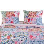 "Greenland Home Fashions Joanna's Garden Perfect Fit Pure Natural Cotton Pillow Sham - Standard 20 x 26"", Multicolor"